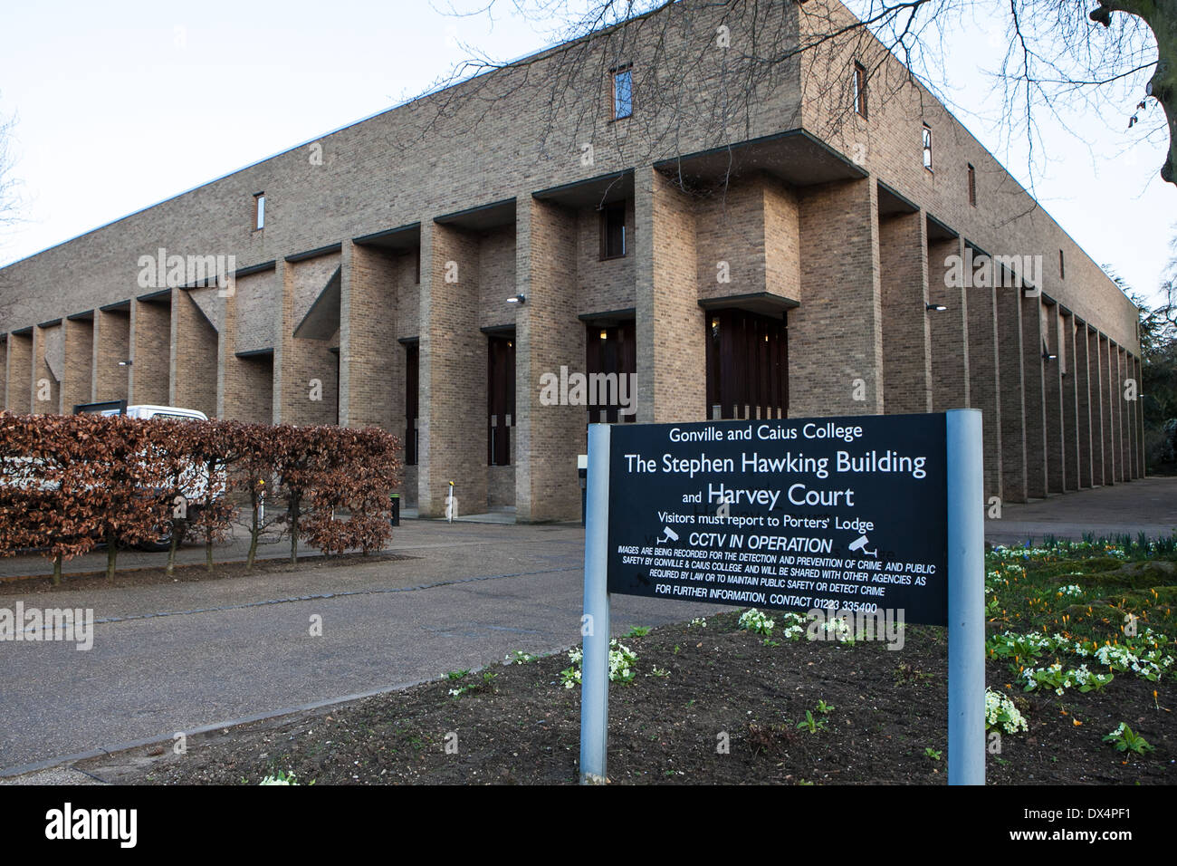 The Stephen Hawking Building  at the Gonville and Caius College Newnham Village, Cambridge University Stock Photo