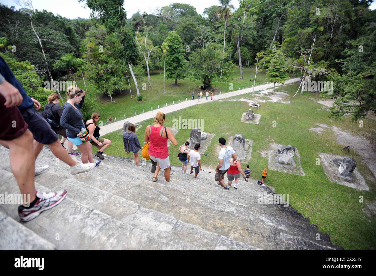 Tikal National Park in El Peten department in Guatemala. - Stock Image