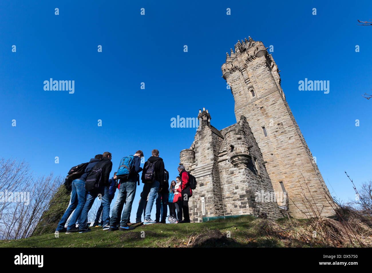 The National Wallace Monument on Abbey Craig, near Stirling, Scotland - Stock Image