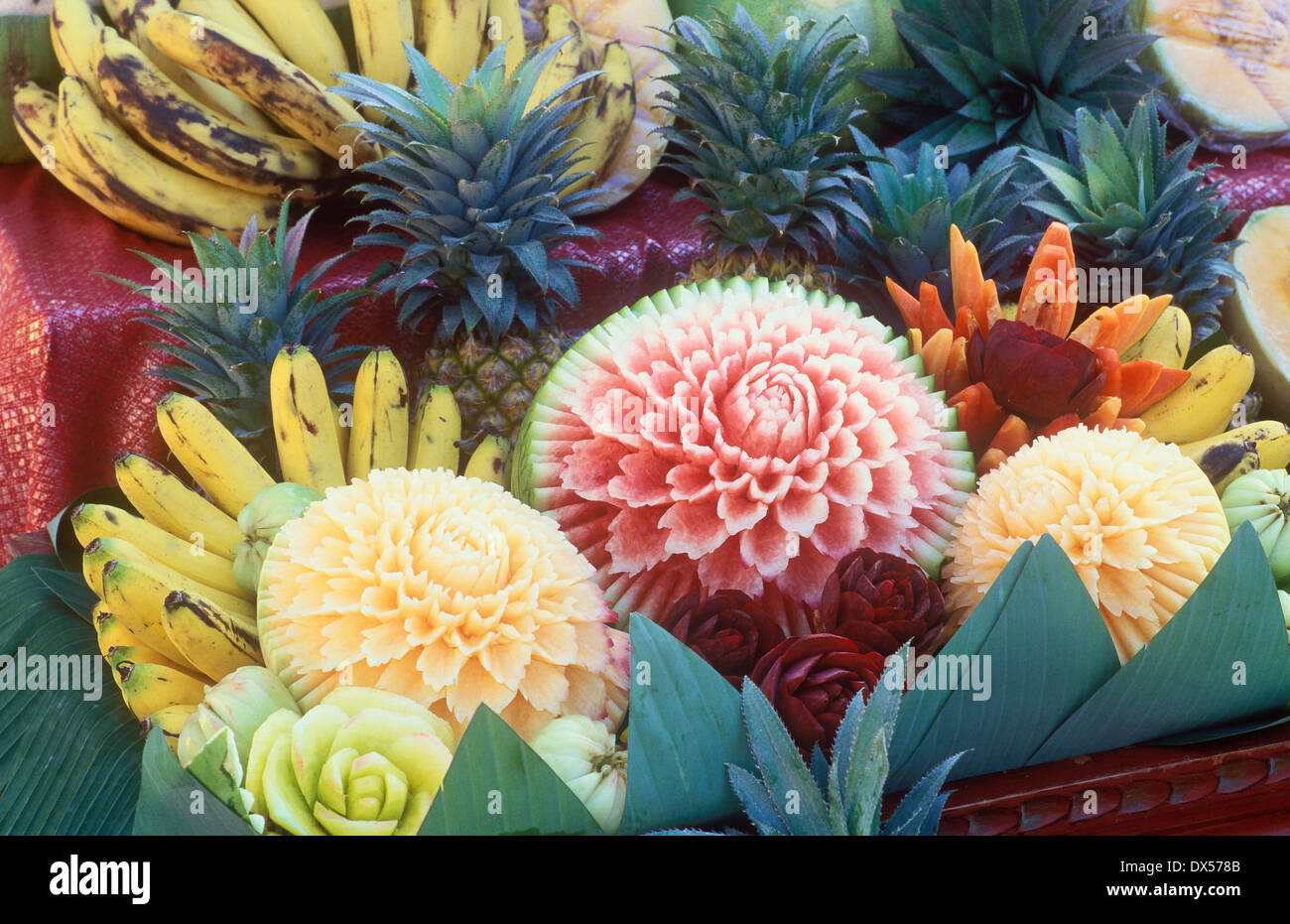 Fruit carving thailand stock photos fruit carving thailand stock