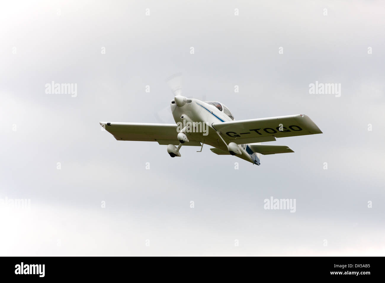 Vans RV-6A G-TOGO in flight taking-off from Breighton Airfield - Stock Image