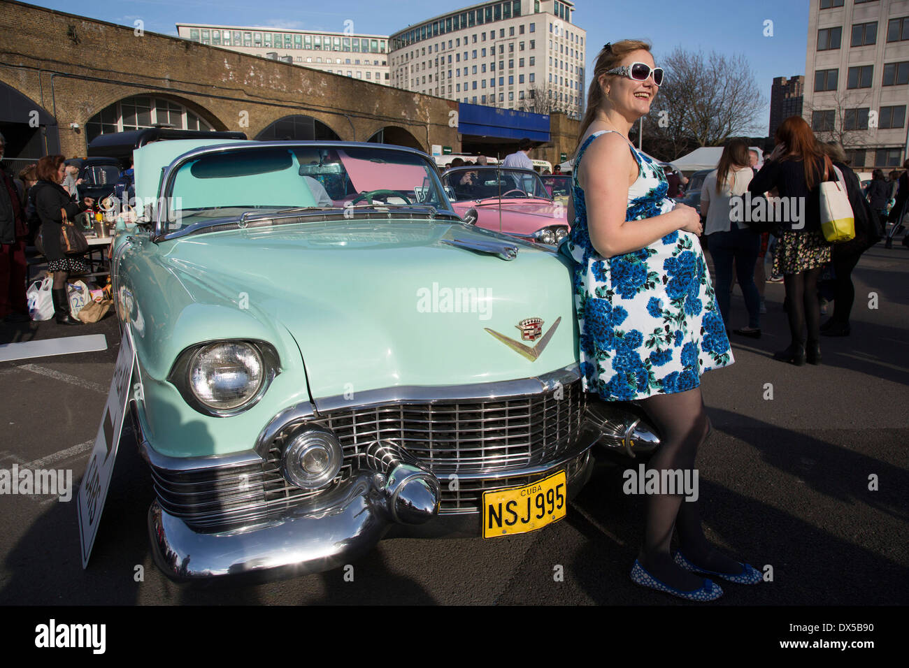 The Classic Car Boot Sale at the Southbank Centre, South Bank Stock ...