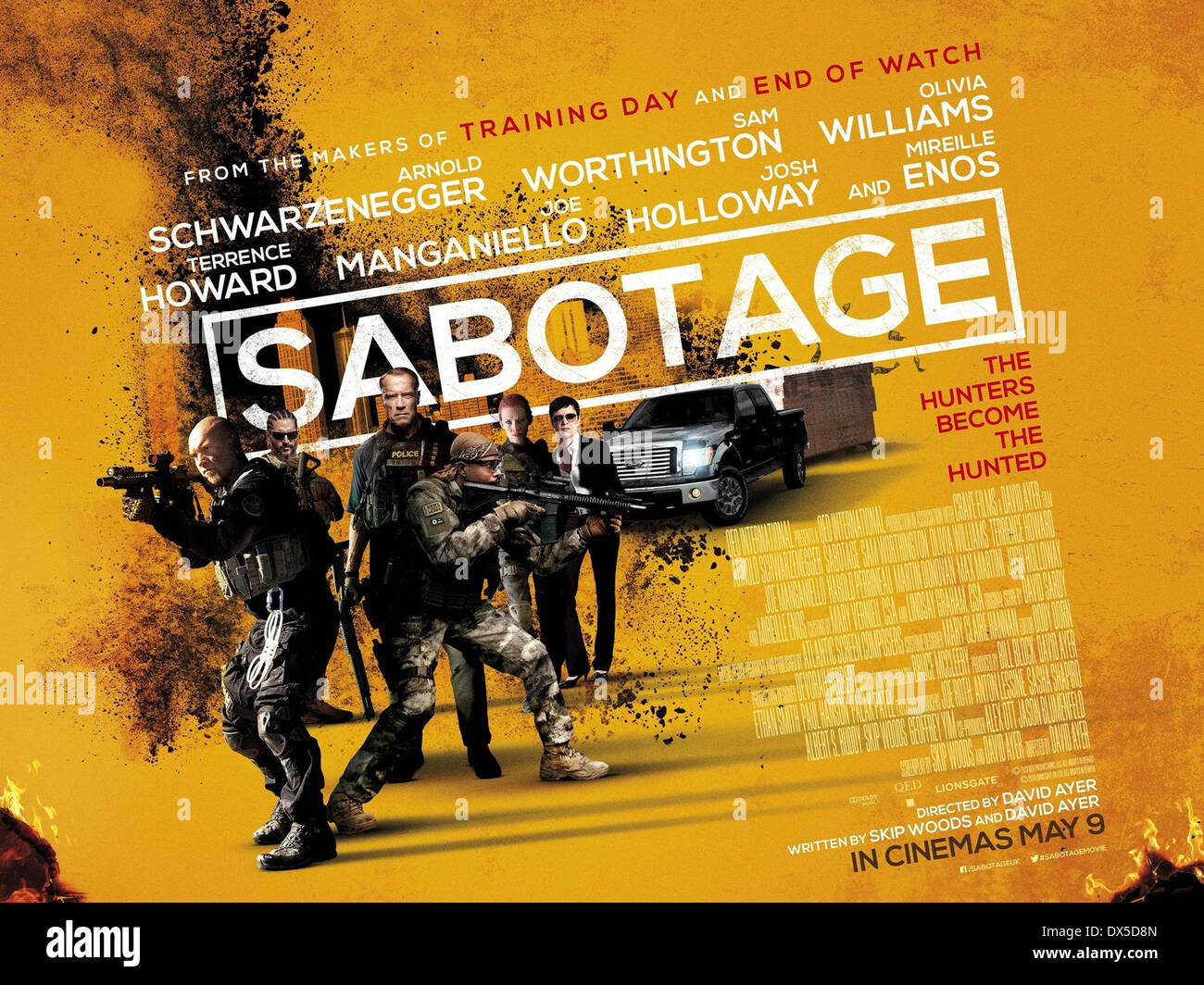 SABOTAGE (POSTER) (2014) DAVID AYER (DIR) MOVIESTORE COLLECTION LTD - Stock Image