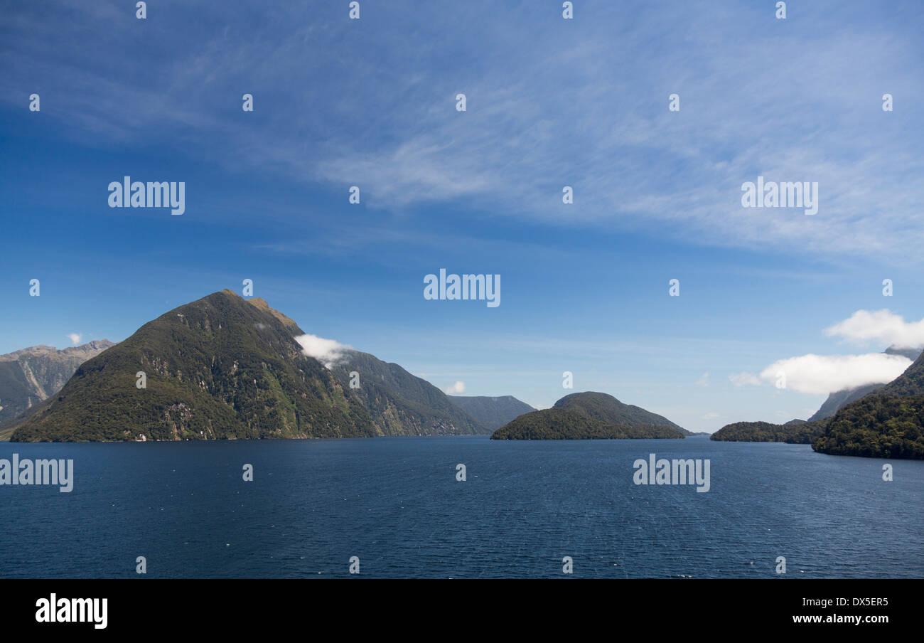 Doubtful Sound, Fiordland National Park, New Zealand - Stock Image