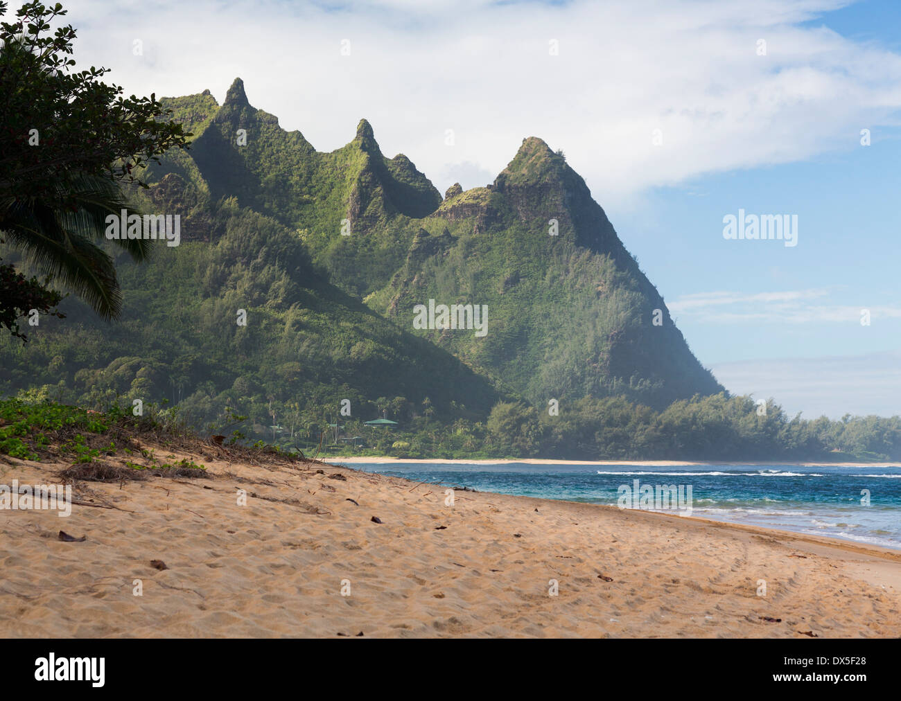 Tunnels Beach, Kauai, Hawaii, USA - Stock Image