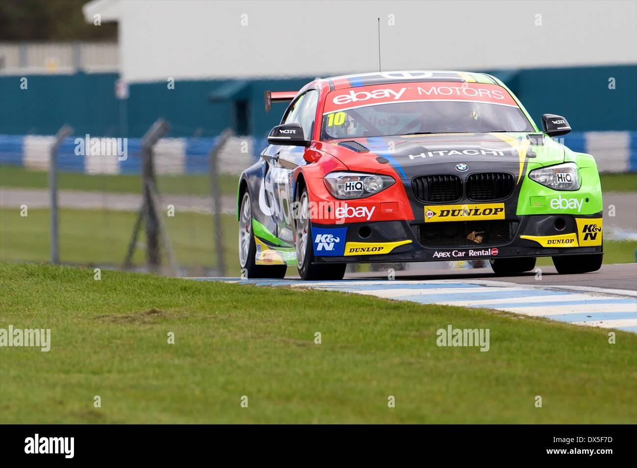 Donington, UK. 18th Mar, 2014. Rob Collard driving his eBay Motors ...