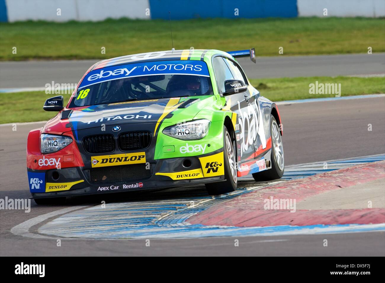 Donington, UK. 18th Mar, 2014. Nick Foster driving his eBay Motors ...