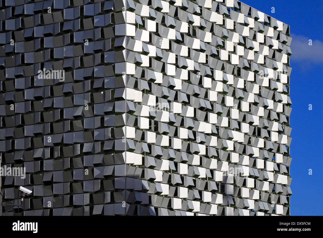 The 'Cheese Grater' multistory car park, St Paul's development, Sheffield, South Yorkshire, England, UK. - Stock Image