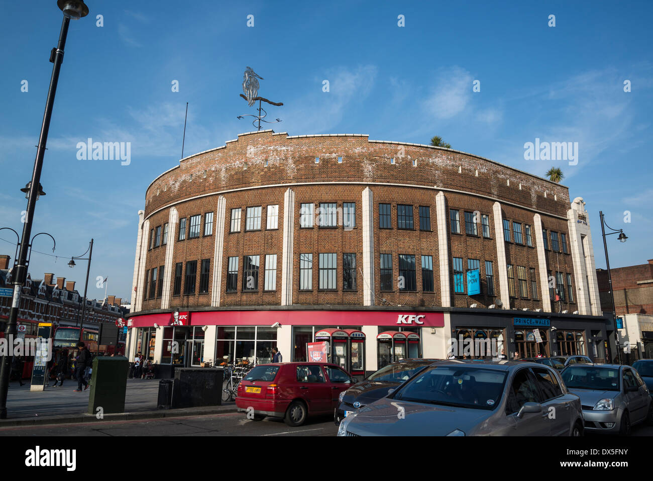 Round building at the corner of Coldharbour Lane and Brixton Road, Brixton, London, UK - Stock Image