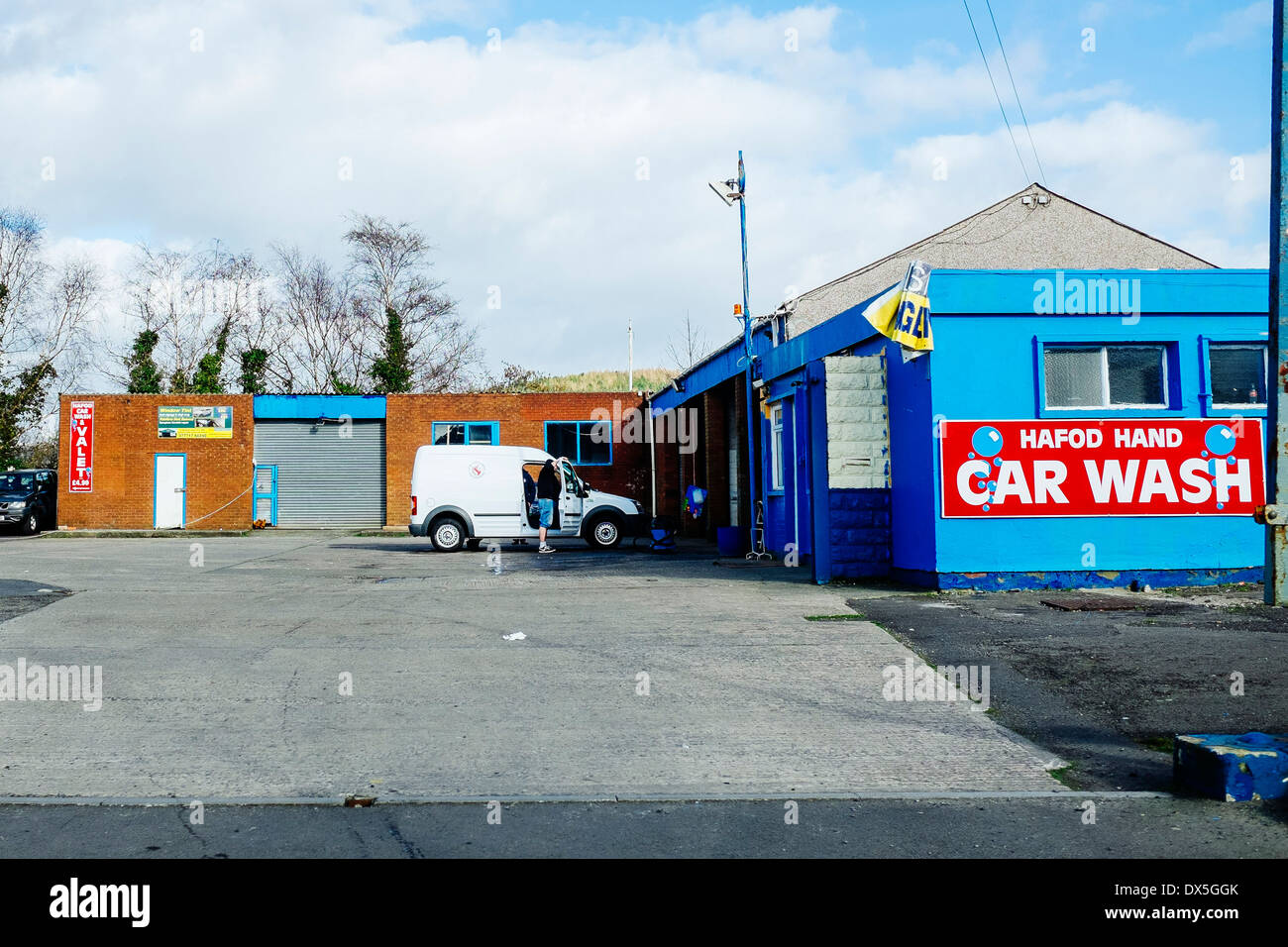 Hand car wash stock photos hand car wash stock images alamy a hand car wash in swansea wales stock image solutioingenieria Image collections