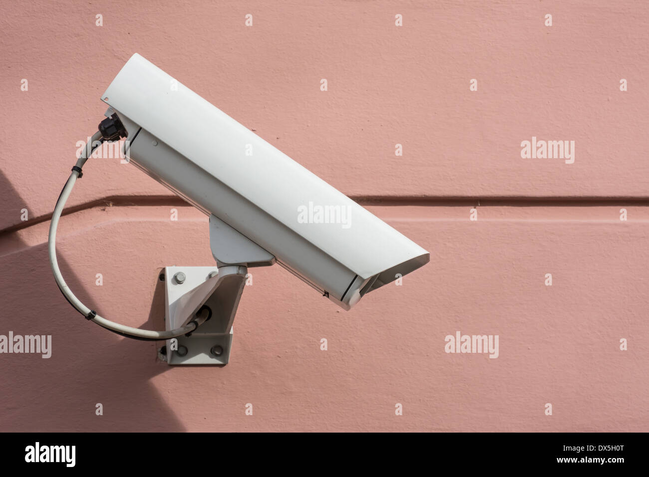 Security with a video surveillance camera Stock Photo