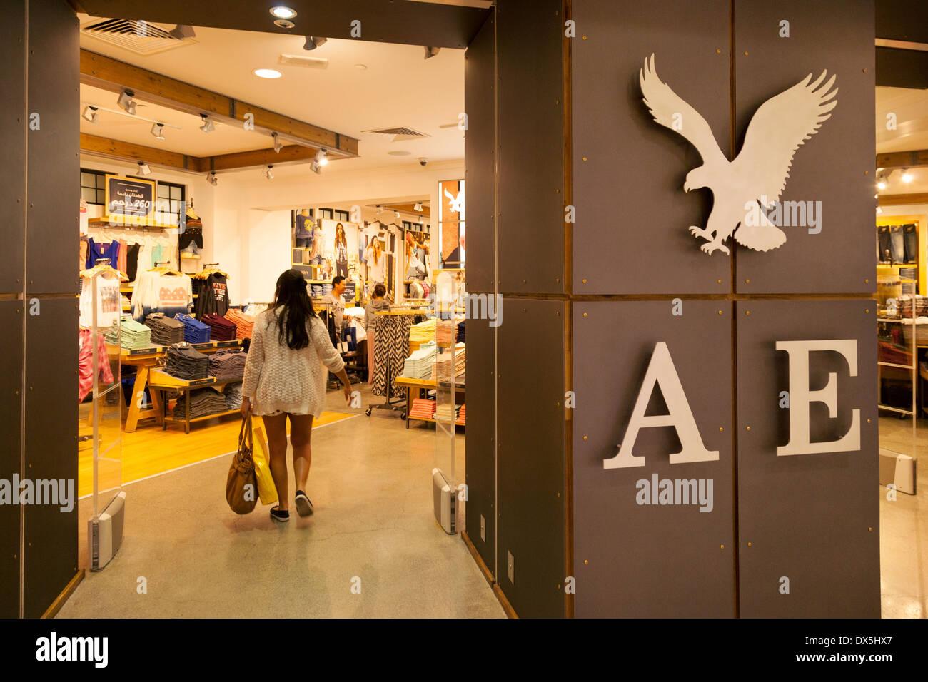 American Eagle Outfitters Store Shop Dubai Mall Dubai