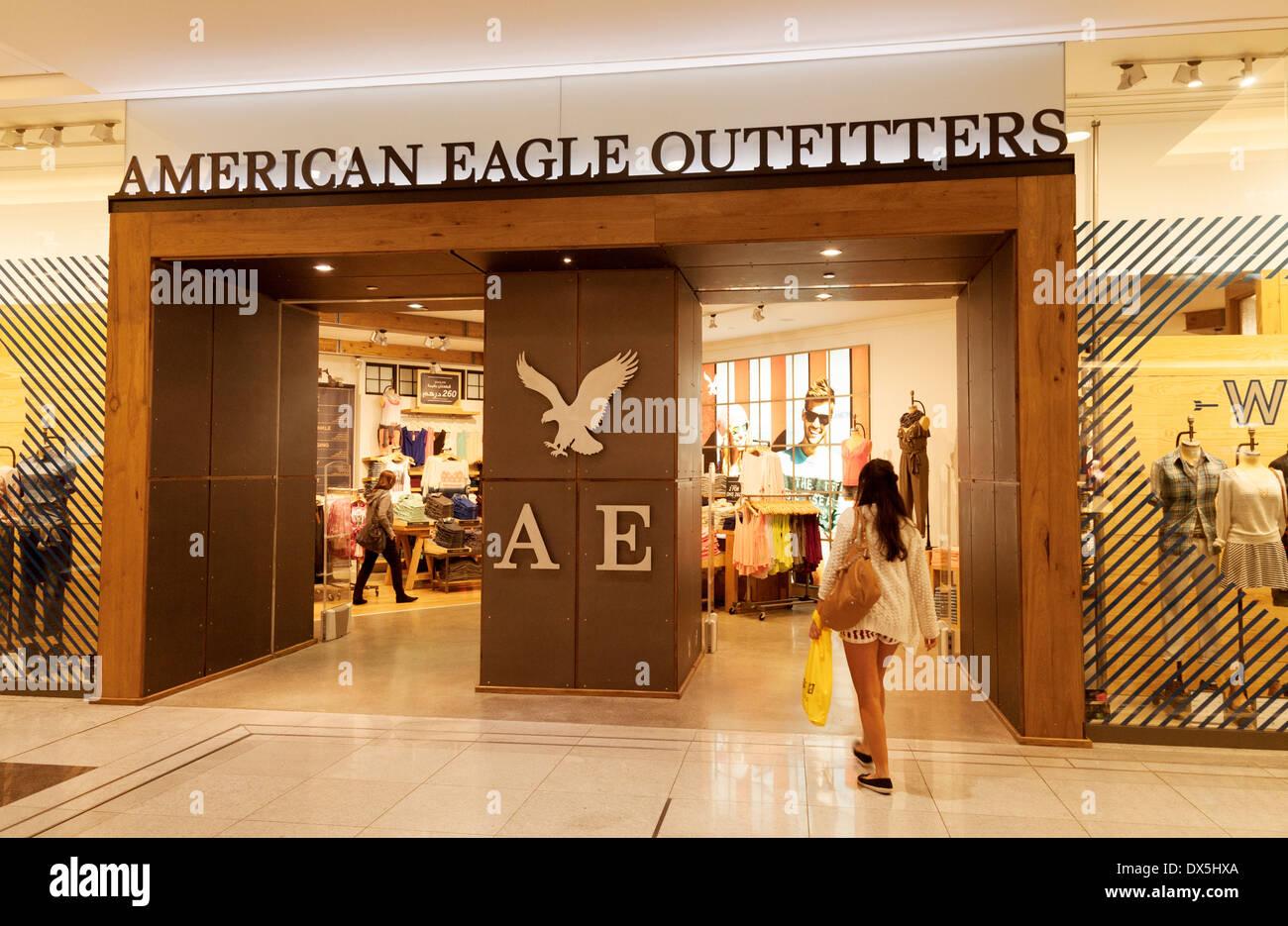 american eagle outfitters store shop dubai mall dubai uae united stock photo 67735986 alamy. Black Bedroom Furniture Sets. Home Design Ideas