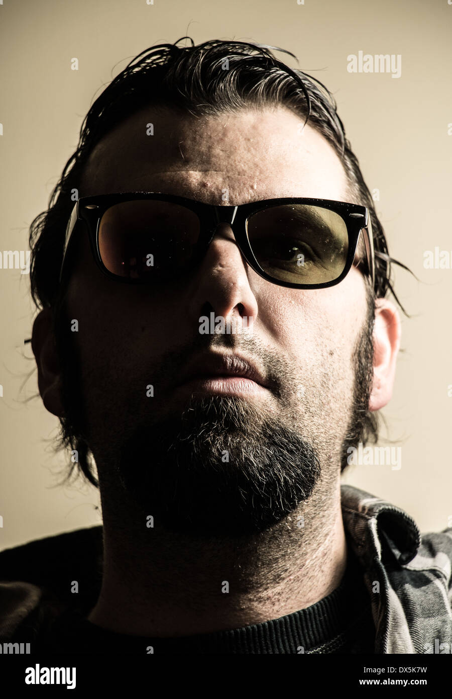 Man with Sunglasses - Stock Image