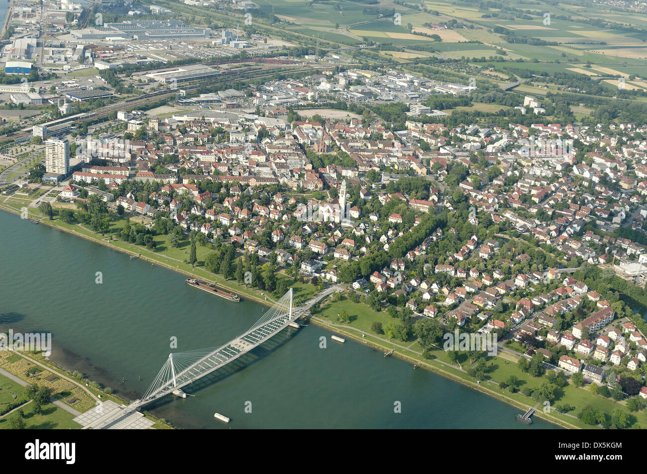 Kehl am Rhein, Black Forest, Germany Stock Photo