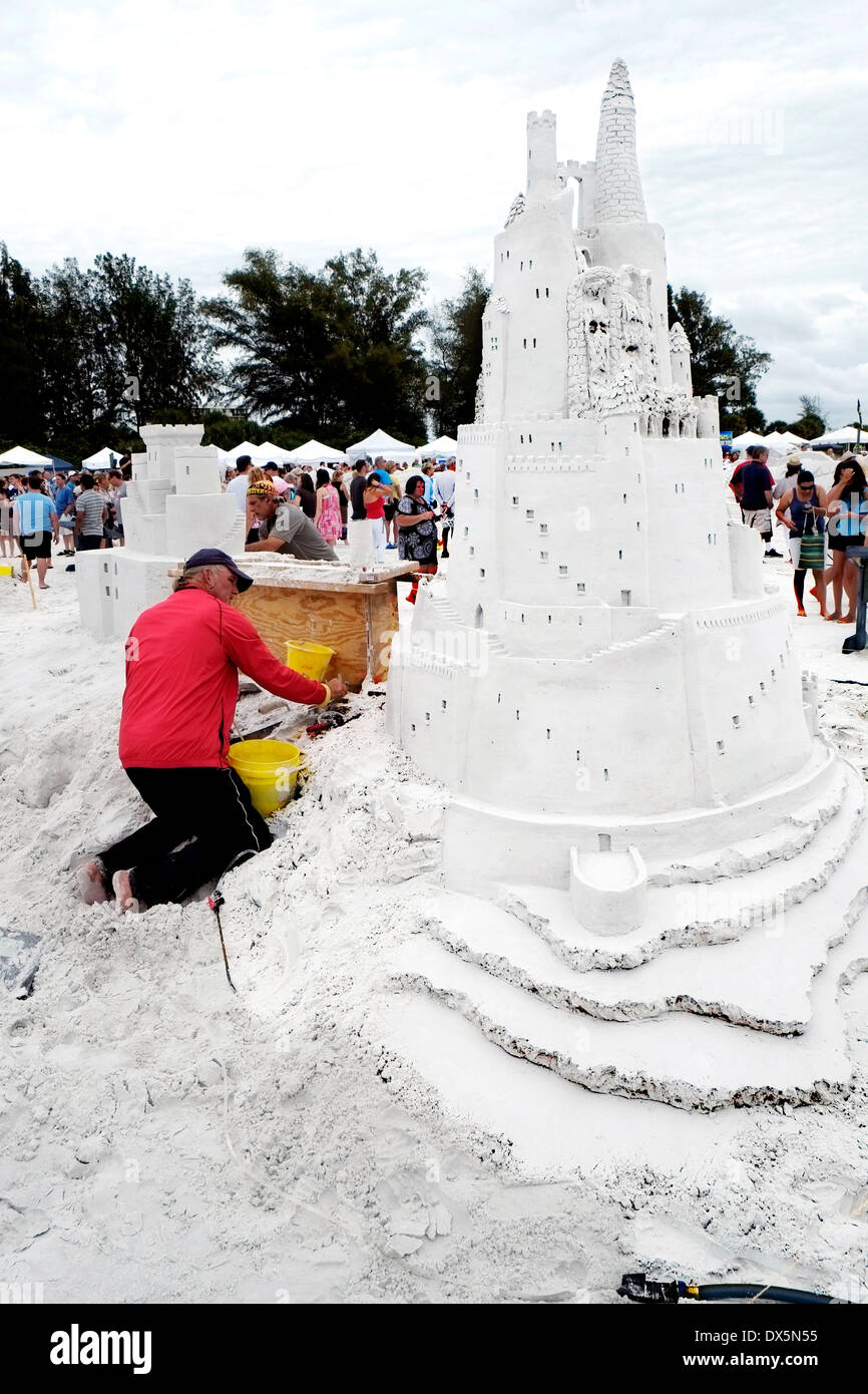 Sarasota Florida Siesta Key Crystal Classic Master Sand Sculpting Competition FL - Stock Image