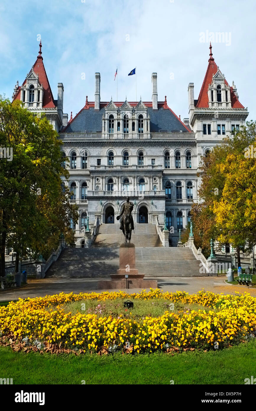State Capitol Building Statehouse Albany New York NY Capital - Stock Image