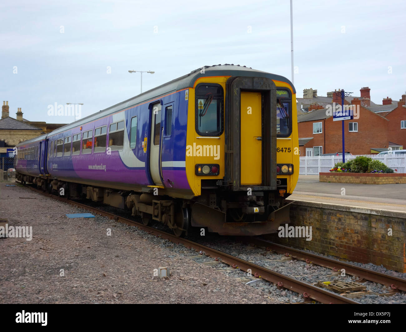 A Northern Rail train to Darlington at the branch line