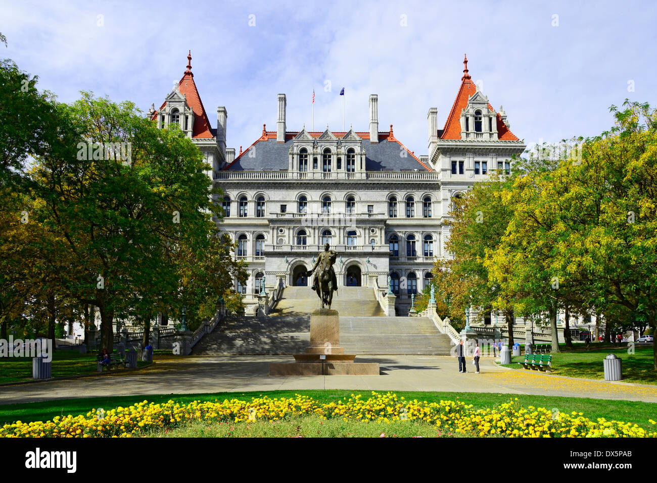State Capitol Building Statehouse Albany New York NY Capital - Stock Image