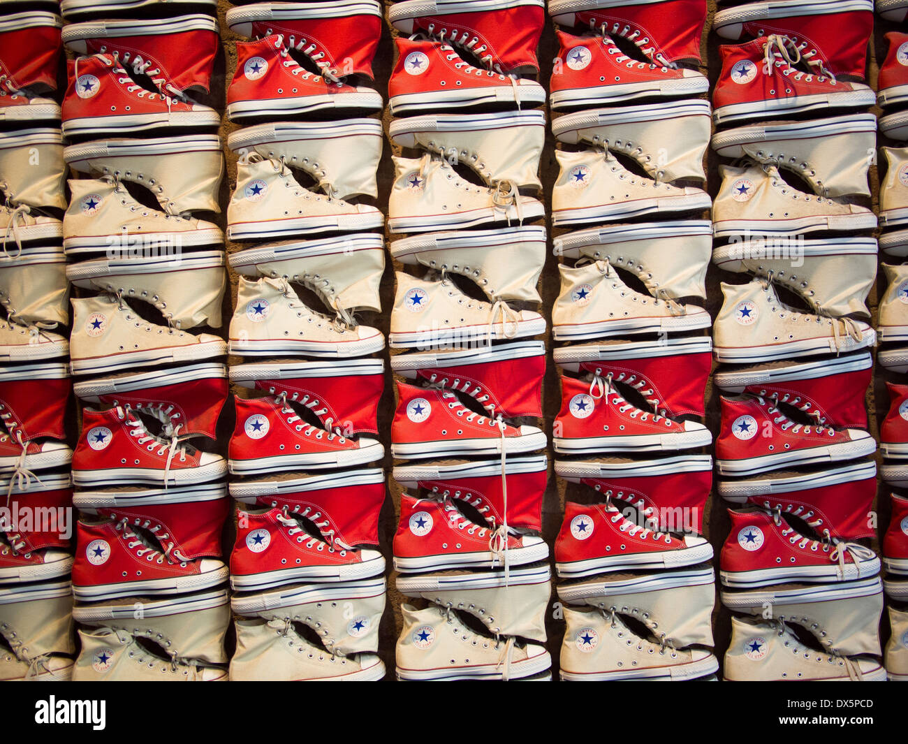 Converse All Star Display, New York - Stock Image
