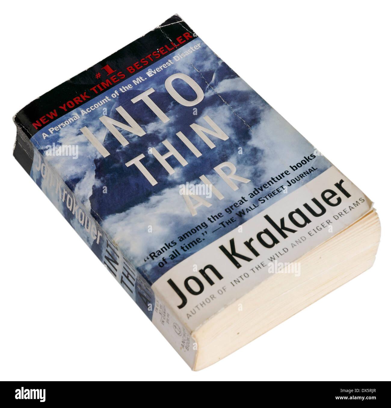 Into Thin Air by Jon Krakauer - Stock Image