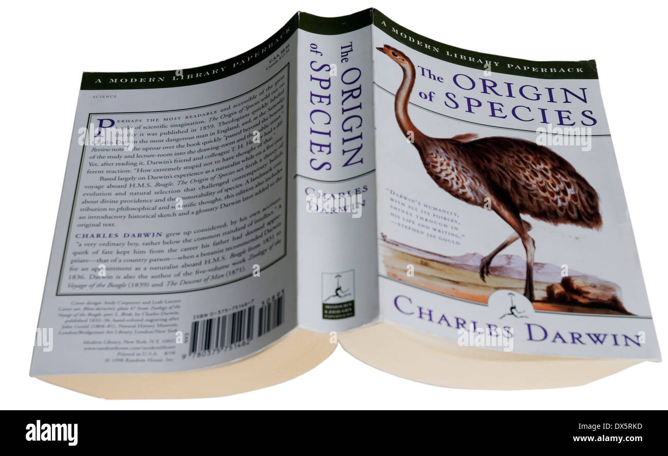 The Origin of Species by Charles Darwin - Stock Image