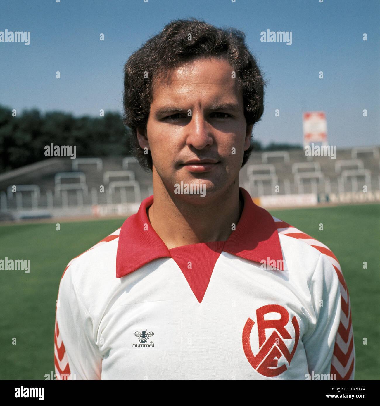 football, 2. Bundesliga Nord, 1977/1978, Rot Weiss Essen, team presentation, portrait Hartmut Huhse - Stock Image