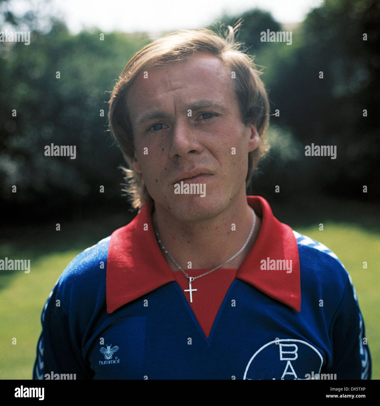 football, 2. Bundesliga Nord, 1977/1978, FC Bayer 05 Uerdingen, team presentation, portrait Horst Riege - Stock Image