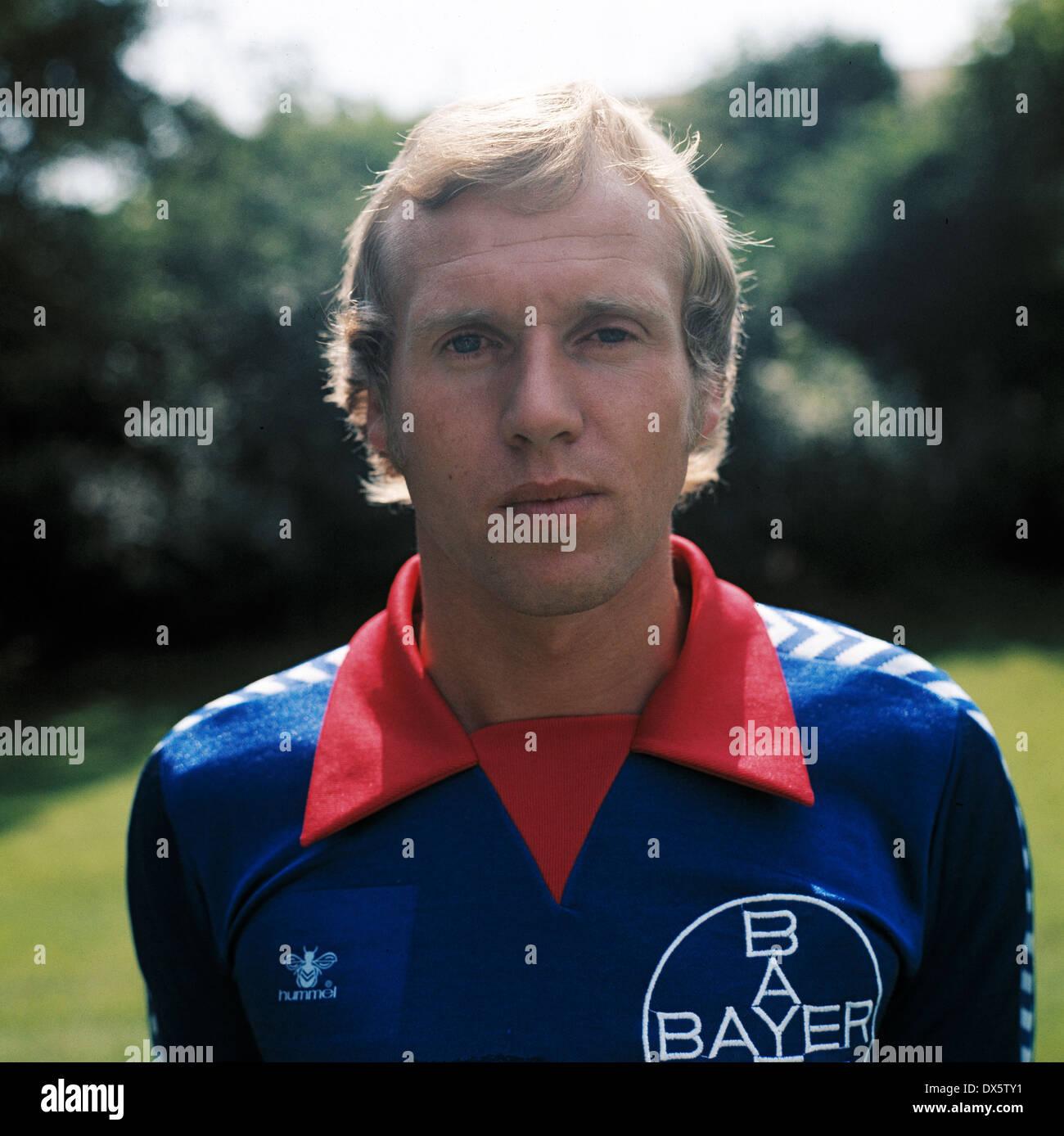 football, 2. Bundesliga Nord, 1977/1978, FC Bayer 05 Uerdingen, team presentation, portrait Jens Steffensen - Stock Image