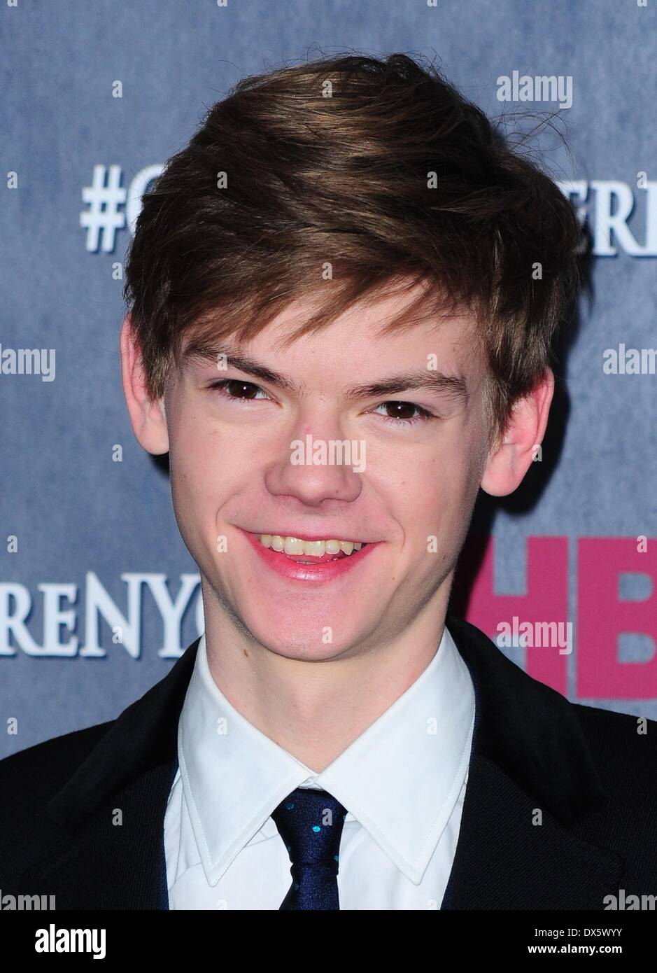New York, NY, USA. 18th Mar, 2014. Thomas Brodie-Sangster at arrivals for HBO's GAME OF THRONES Fourth Season Premiere, Avery Fisher Hall at Lincoln Center, New York, NY March 18, 2014. Credit:  Gregorio T. Binuya/Everett Collection/Alamy Live News - Stock Image