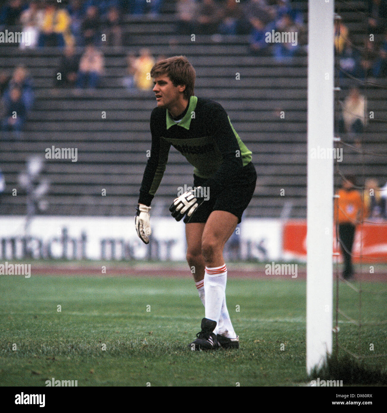 football, DFB Cup, 1978/1979, Second Round, Parkstadion, FC Schalke 04 versus VfB Stuttgart 3:2, scene of the match, keeper Helmut Roleder (VfB) - Stock Image