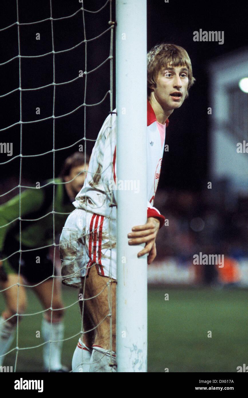 football, 2. Bundesliga Nord, 1978/1979, Grotenburg Stadium, Bayer 05 Uerdingen versus Bayer 04 Leverkusen 0:0, scene of the match, Peter Klimke (Leverkusen) - Stock Image