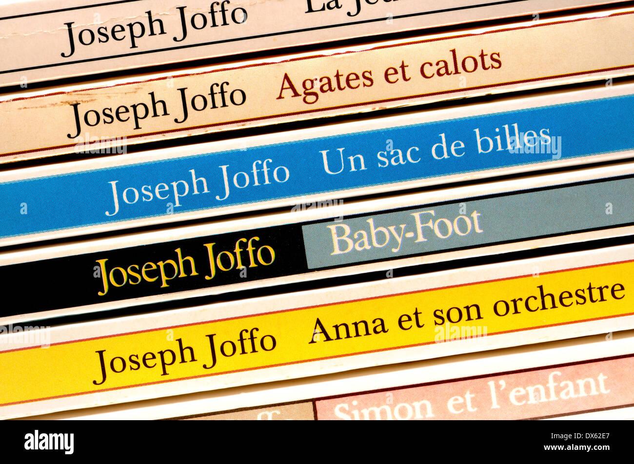 Joseph Joffo French paperback novels - Stock Image