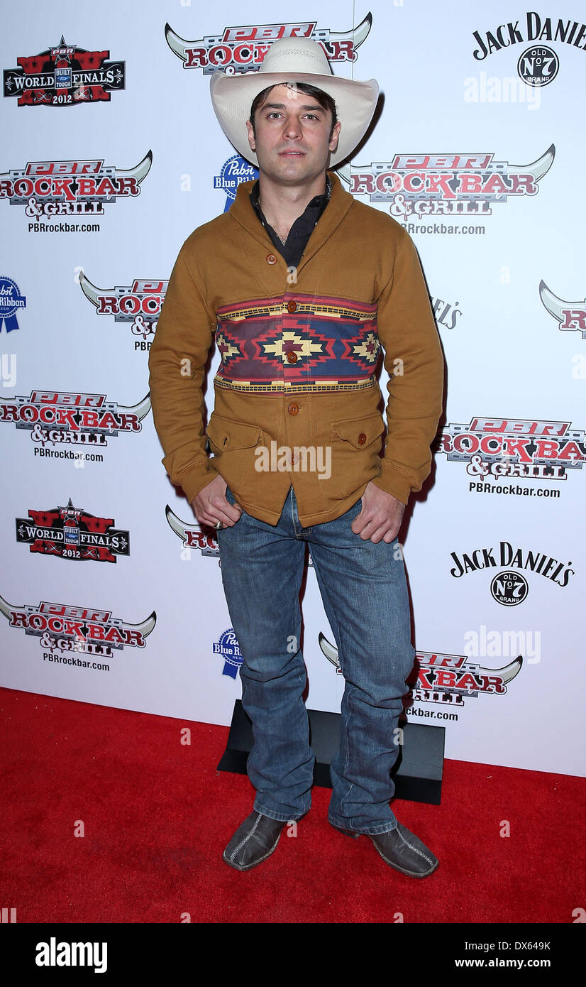 Chad Besplug Professional Bull Rider Superstars walk the red carpet at PBR Rock Bar inside The Miracle Mile Shops at Planet Hollywood Resort and Casino Las Vegas, Nevada - 26.10.12 Featuring: Chad Besplug Where: United States When: 26 Oct 2012 - Stock Image