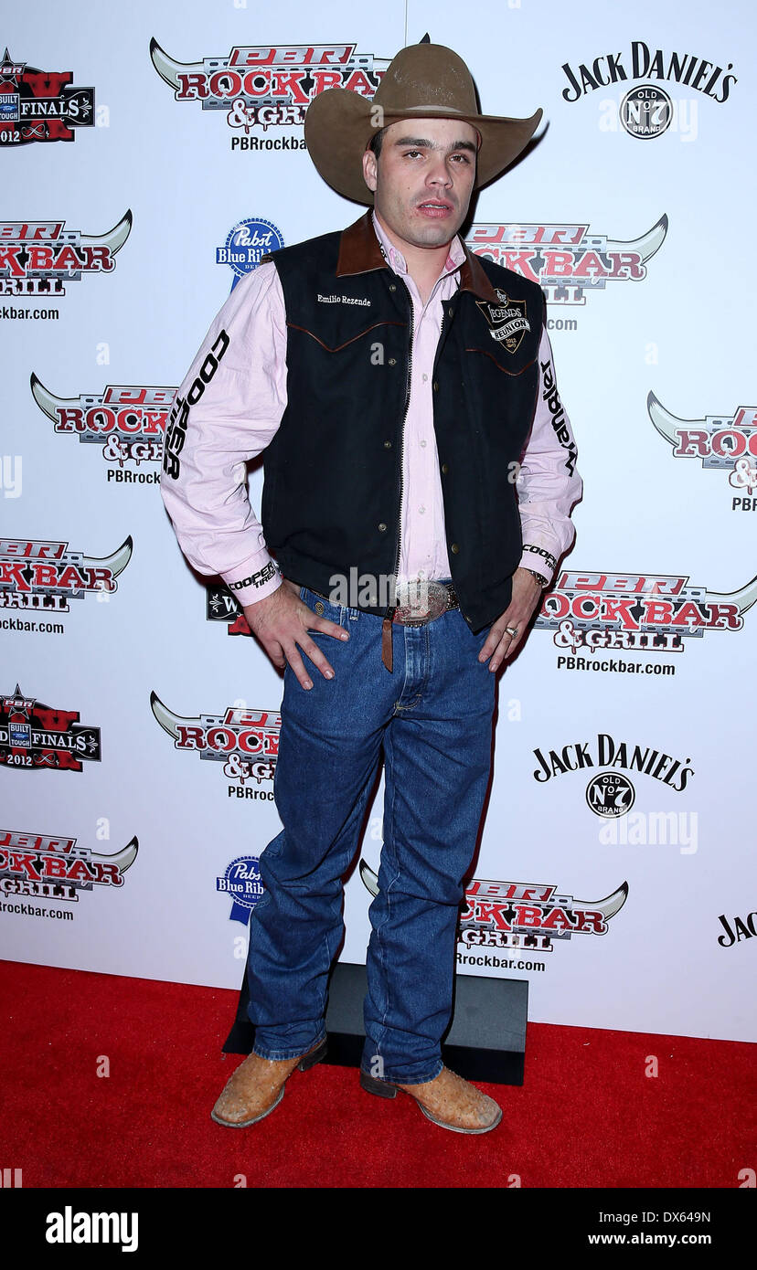Emilio Resende Professional Bull Rider Superstars walk the red carpet at PBR Rock Bar inside The Miracle Mile Shops at Planet Hollywood Resort and Casino Las Vegas, Nevada - 26.10.12 Featuring: Emilio Resende Where: United States When: 26 Oct 2012 - Stock Image