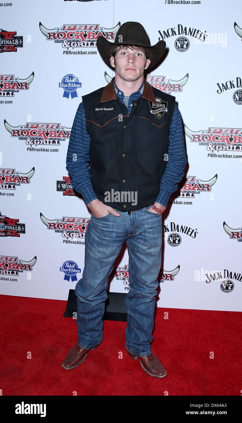 Harve Stewart Professional Bull Rider Superstars walk the red carpet at PBR Rock Bar inside The Miracle Mile Shops at Planet Hollywood Resort and Casino Las Vegas, Nevada - 26.10.12 Featuring: Harve Stewart Where: United States When: 26 Oct 2012 - Stock Image