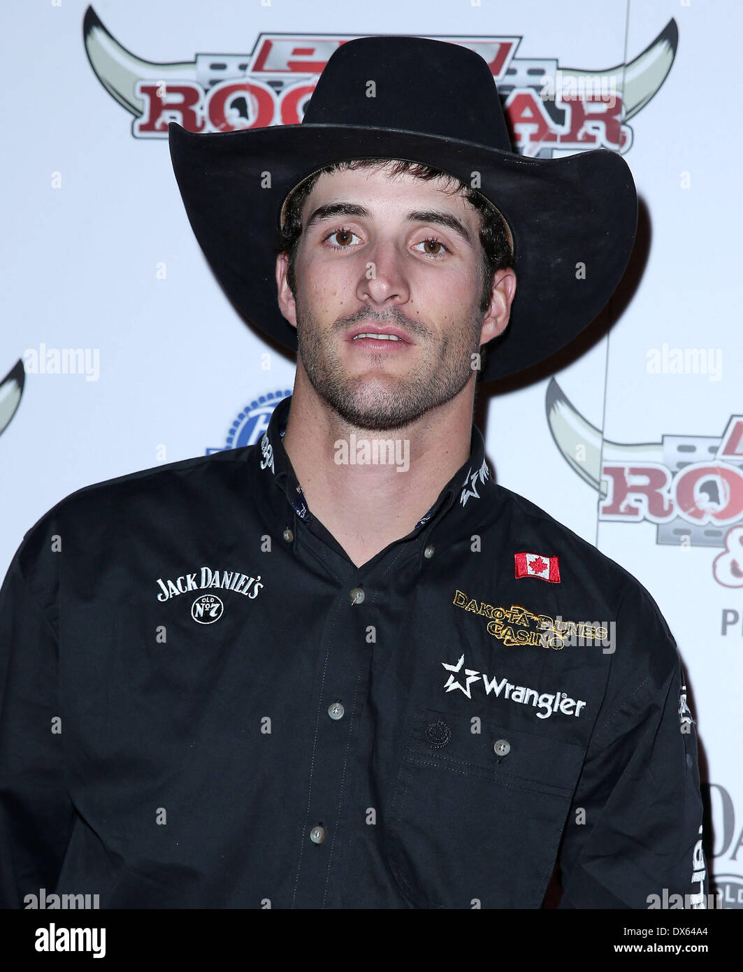 Aaron Roy Professional Bull Rider Superstars walk the red carpet at PBR Rock Bar inside The Miracle Mile Shops at Planet Hollywood Resort and Casino Las Vegas, Nevada - 26.10.12 Featuring: Aaron Roy Where: United States When: 26 Oct 2012 - Stock Image