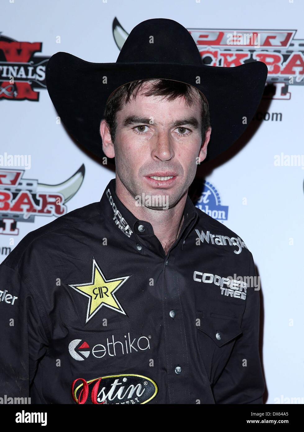 Fabiano Vieira Professional Bull Rider Superstars walk the red carpet at PBR Rock Bar inside The Miracle Mile Shops at Planet Hollywood Resort and Casino Las Vegas, Nevada - 26.10.12 Featuring: Fabiano Vieira Where: United States When: 26 Oct 2012 - Stock Image