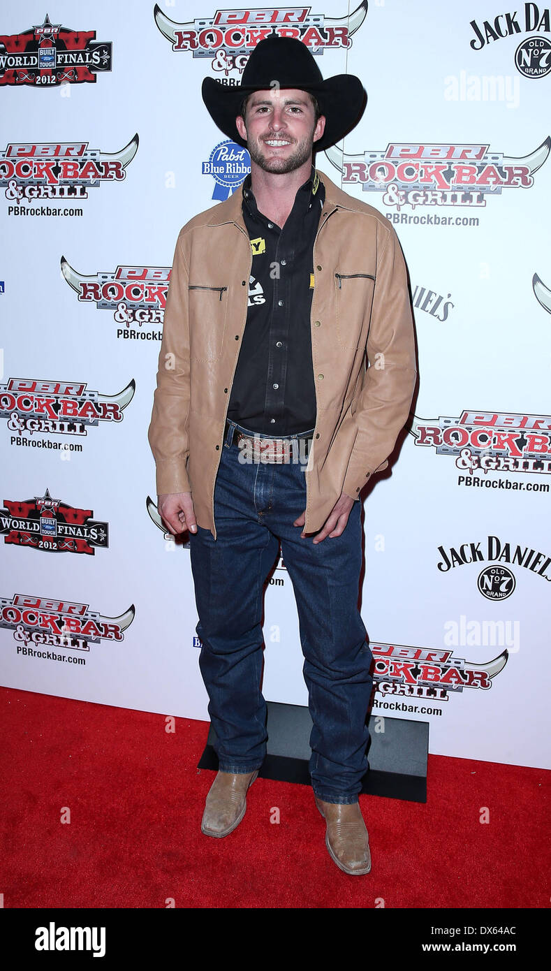 Douglas Duncan Professional Bull Rider Superstars walk the red carpet at PBR Rock Bar inside The Miracle Mile Shops at Planet Hollywood Resort and Casino Las Vegas, Nevada - 26.10.12 Featuring: Douglas Duncan Where: United States When: 26 Oct 2012 - Stock Image