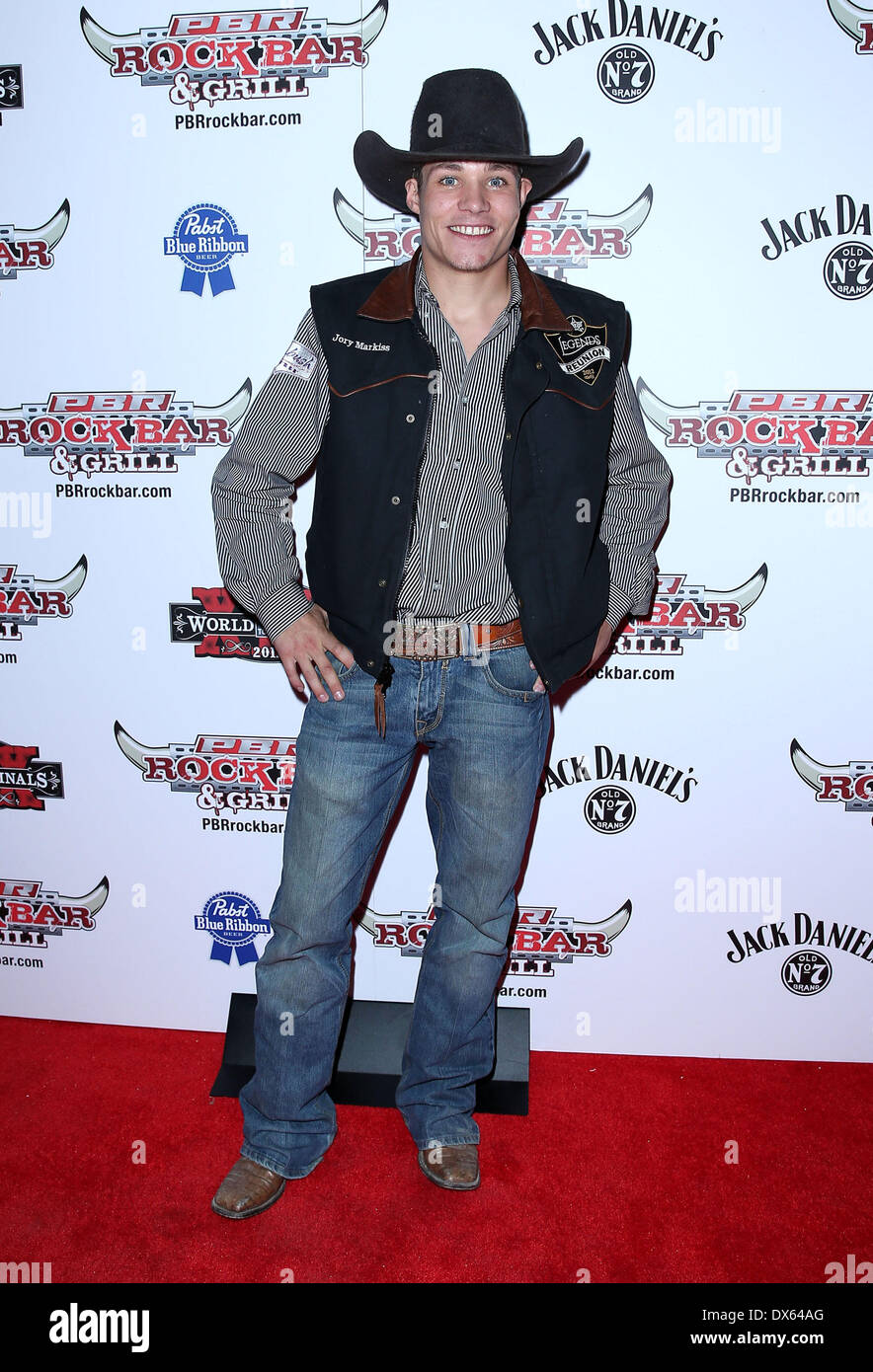 Jory Markiss Professional Bull Rider Superstars walk the red carpet at PBR Rock Bar inside The Miracle Mile Shops at Planet Hollywood Resort and Casino Las Vegas, Nevada - 26.10.12 Featuring: Jory Markiss Where: United States When: 26 Oct 2012 - Stock Image