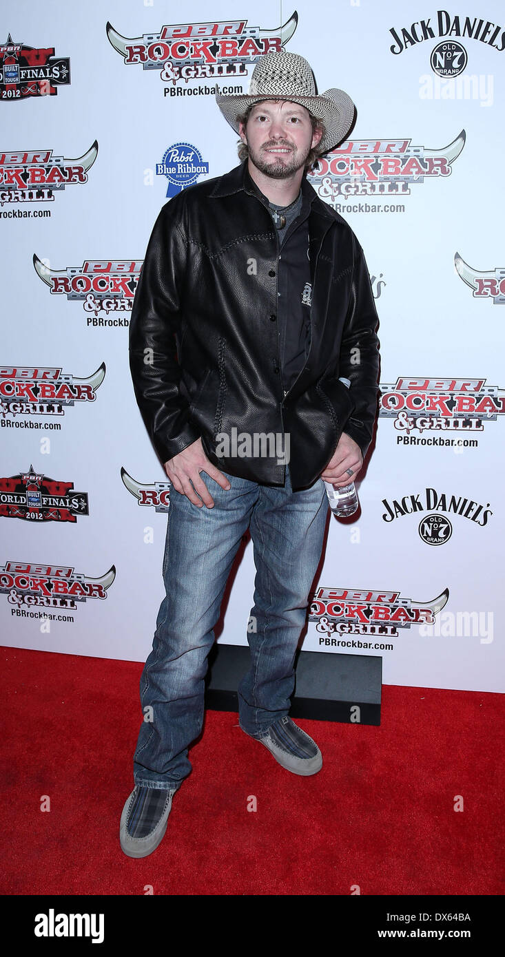 Austin Meier Professional Bull Rider Superstars walk the red carpet at PBR Rock Bar inside The Miracle Mile Shops at Planet Hollywood Resort and Casino Las Vegas, Nevada - 26.10.12 Featuring: Austin Meier Where: United States When: 26 Oct 2012 - Stock Image