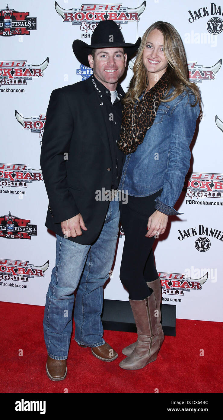 Brenden Clark Professional Bull Rider Superstars walk the red carpet at PBR Rock Bar inside The Miracle Mile Shops at Planet Hollywood Resort and Casino Las Vegas, Nevada - 26.10.12 Featuring: Brenden Clark Where: United States When: 26 Oct 2012 - Stock Image