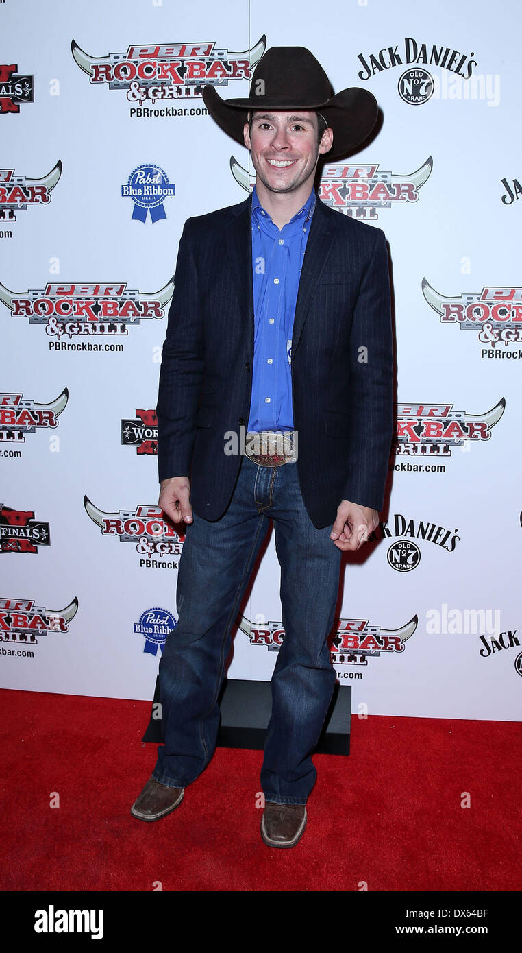 Luke Snyder Professional Bull Rider Superstars walk the red carpet at PBR Rock Bar inside The Miracle Mile Shops at Planet Hollywood Resort and Casino Las Vegas, Nevada - 26.10.12 Featuring: Luke Snyder Where: United States When: 26 Oct 2012 - Stock Image