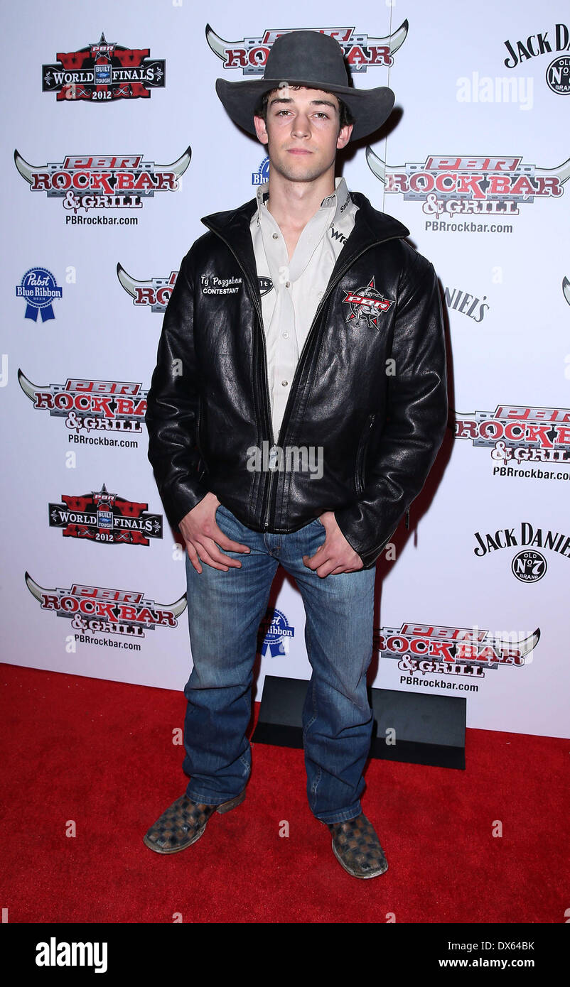 Ty Pozzobon Professional Bull Rider Superstars walk the red carpet at PBR Rock Bar inside The Miracle Mile Shops at Planet Hollywood Resort and Casino Las Vegas, Nevada - 26.10.12 Featuring: Ty Pozzobon Where: United States When: 26 Oct 2012 - Stock Image