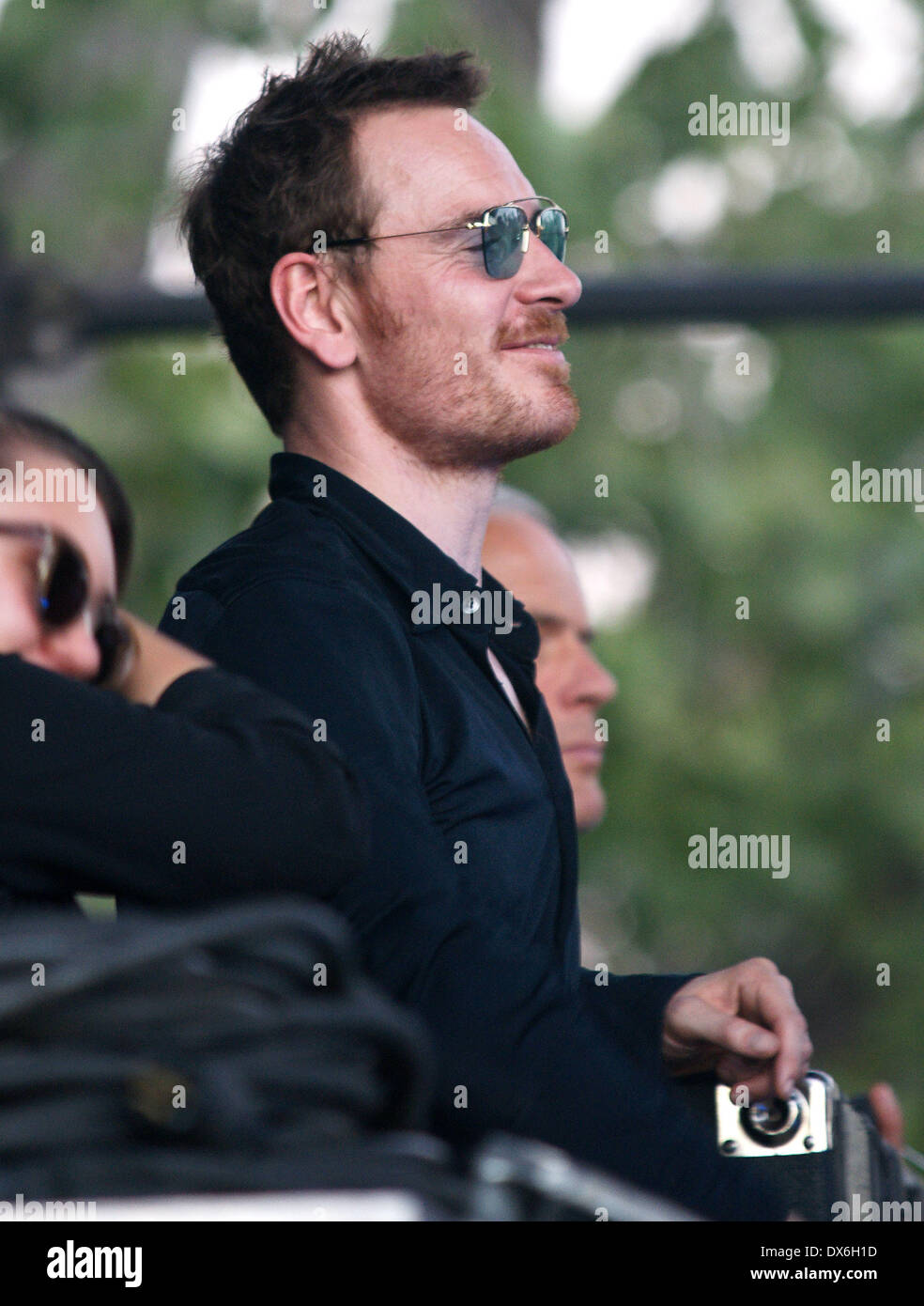 Michael Fassbender on the set of 'Untitled Terrence Malick Project' at the Fun Fun Fun Fest Austin, Texas - 02.11.12 Featuring: Michael Fassbender Where: United States When: 02 Nov 2012 - Stock Image