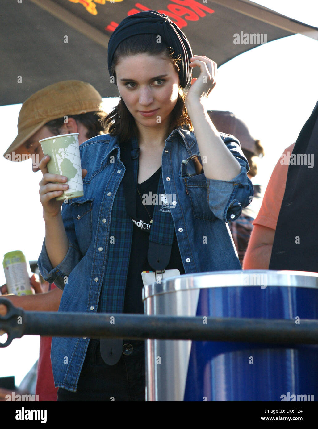 Rooney Mara on the set of 'Untitled Terrence Malick Project' at the Fun Fun Fun Fest Austin, Texas - 02.11.12 Featuring: Rooney Mara Where: United States When: 02 Nov 2012 - Stock Image