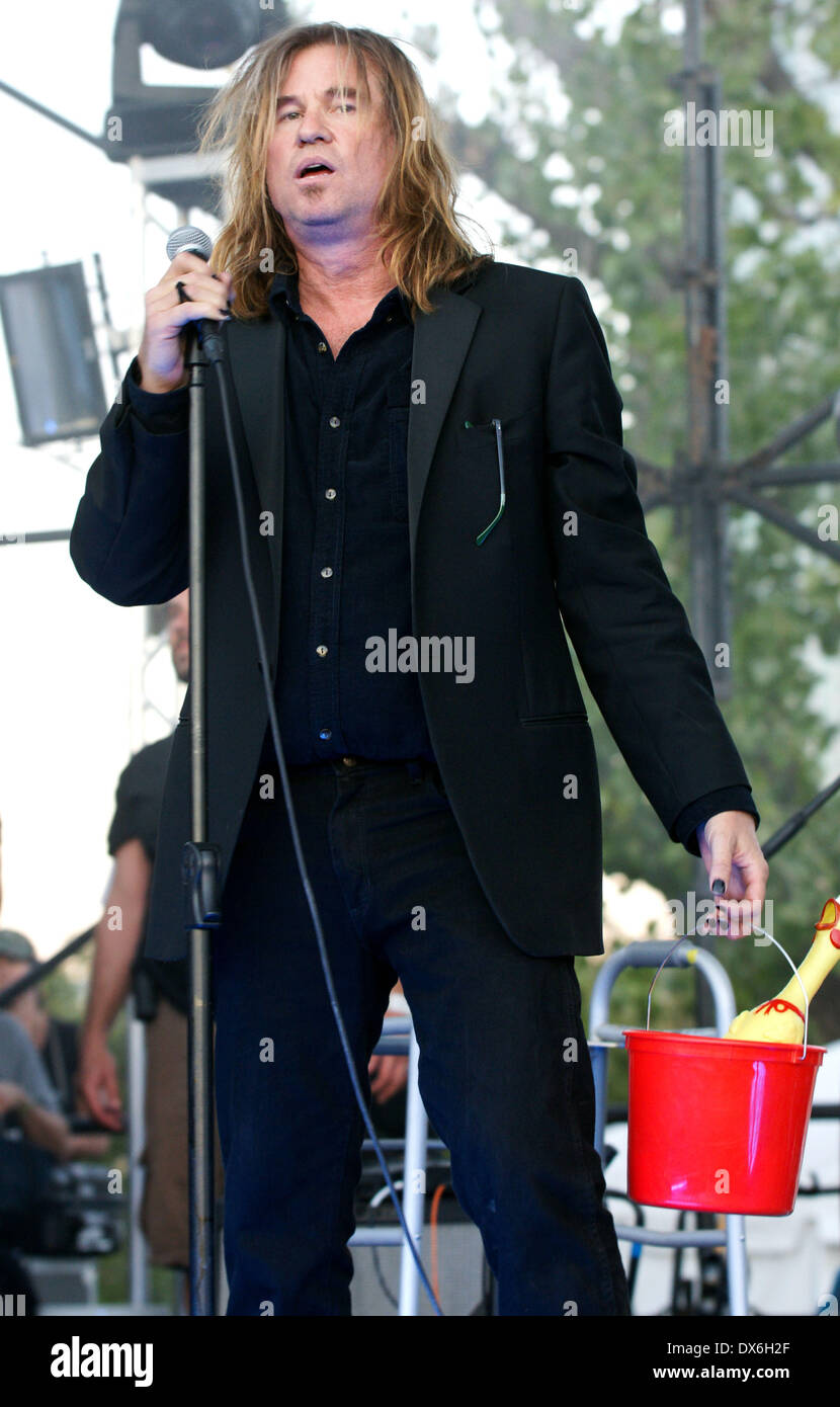 Val Kilmer on the set of 'Untitled Terrence Malick Project' at the Fun Fun Fun Fest Austin, Texas - 02.11.12 Featuring: Val Kil - Stock Image