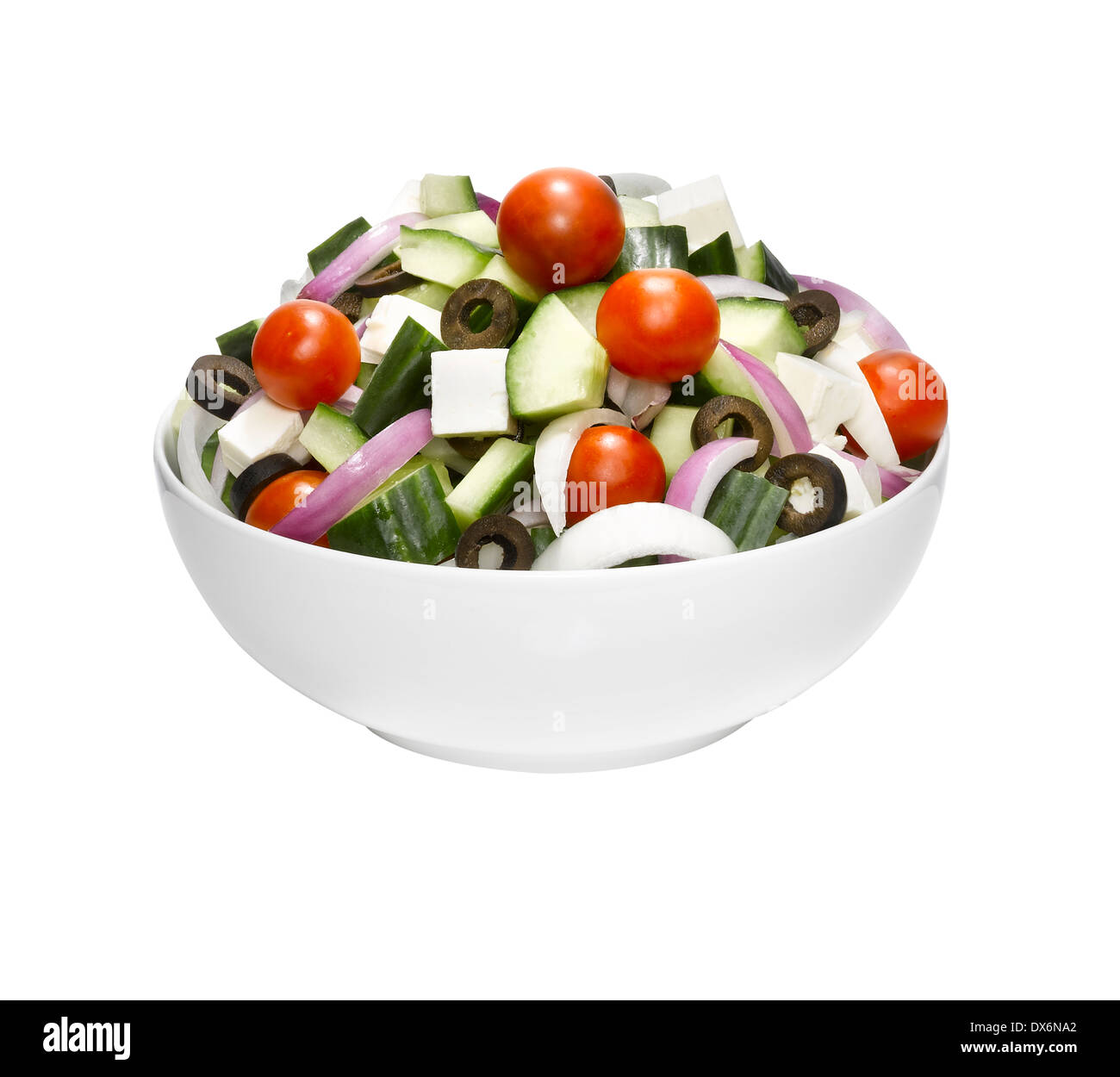 A bowl of Greek salad. Stock Photo