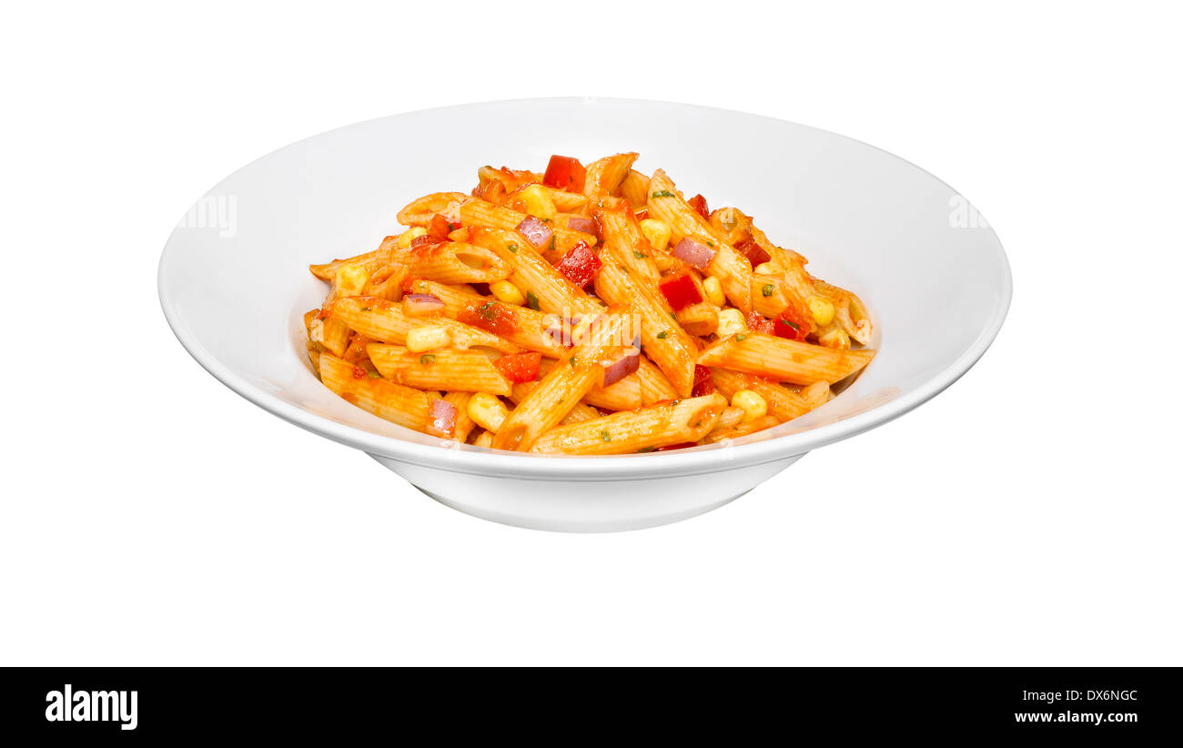 A bowl of pasta Stock Photo