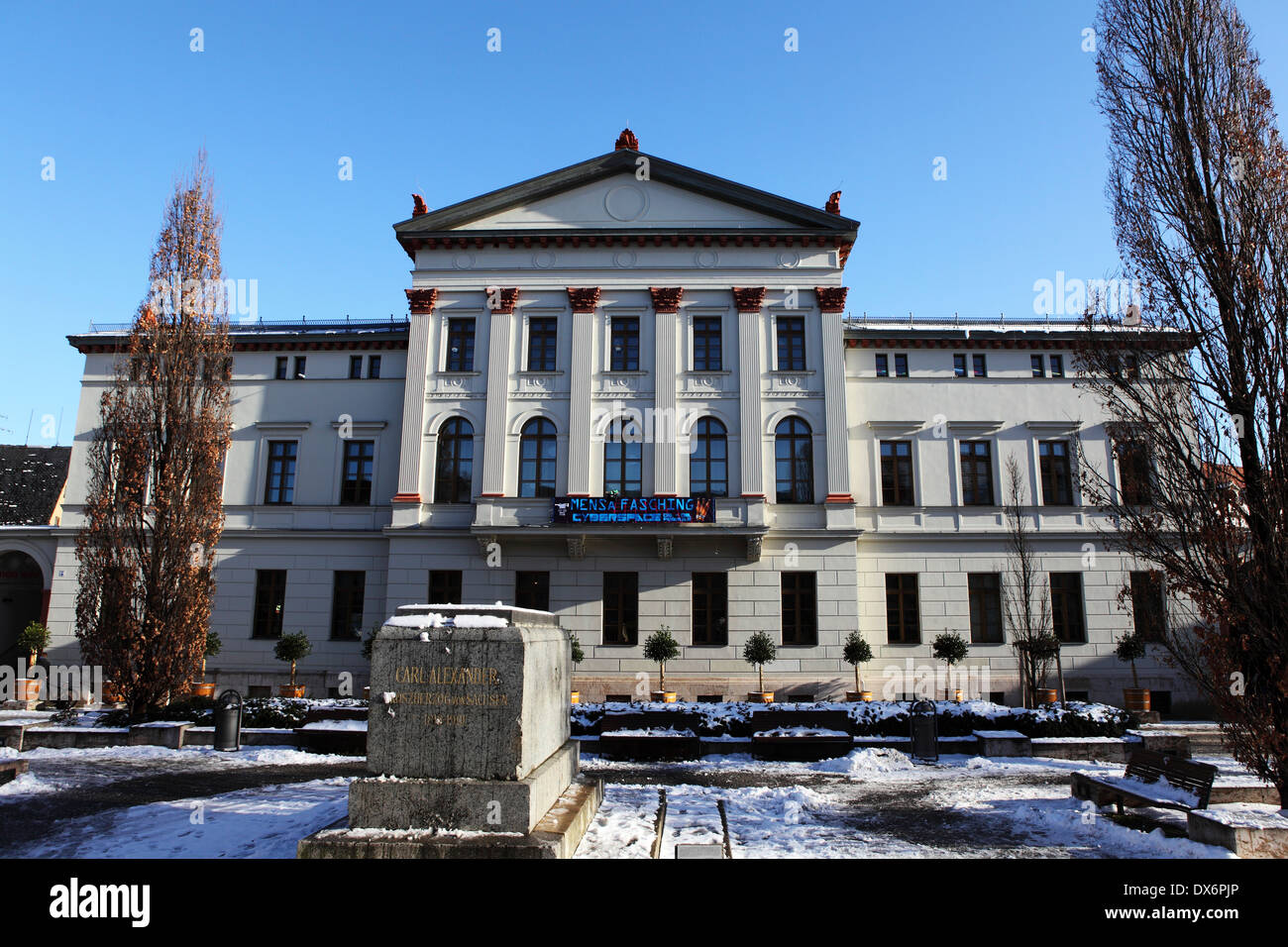 The Jugend und Kultur Zentrum Mon Ami (Youth and Culture Centre Mon Ami) in Weimar, Germany. - Stock Image